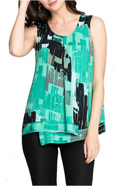 Nic+Zoe - Women's Jade Pebble Tank - Multi