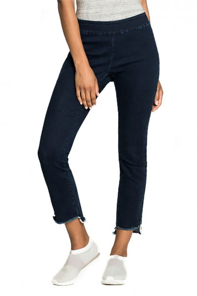 Nic+Zoe - Women's Hem Step Denim Pant - Dark Indigo
