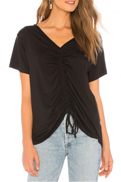 LNA - Women's Casy Cinched Tee - Black