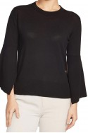 Brochu Walker - Women's Saffron Crew Sweater - Black Onyx