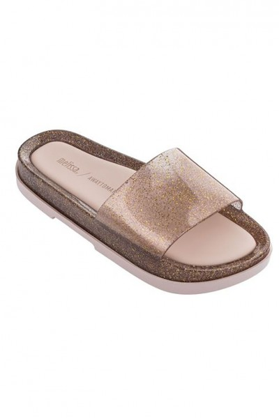 Melissa - Women's Beach Slide Platform + Away To Mars AD - Glitter Pink