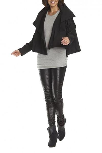 Planet - Women's Cropped Asymmetrical Jacket - Black