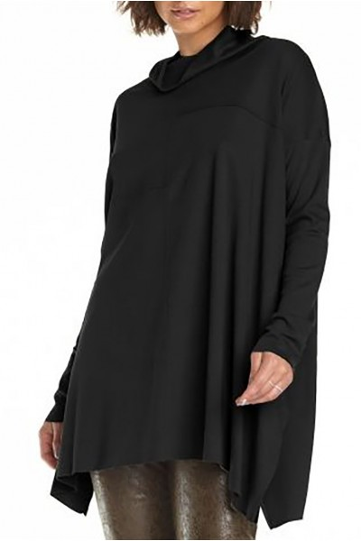 Planet - Women's Seamed Cowl Tee - Black