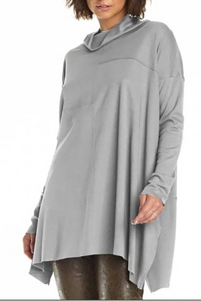 Planet - Women's Seamed Cowl Tee - Heather
