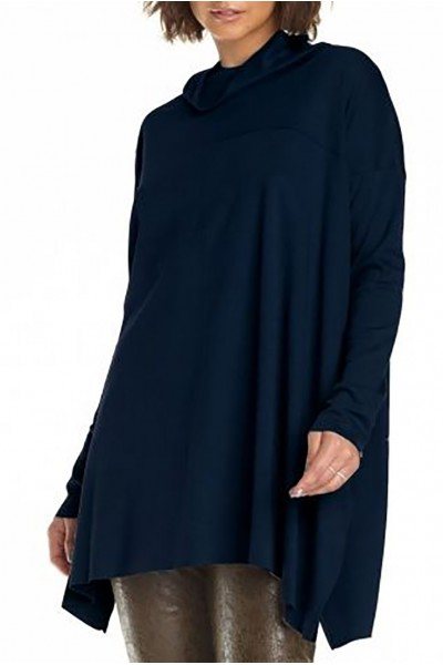 Planet - Women's Seamed Cowl Tee - Midnight