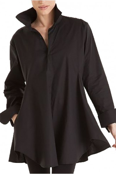 Planet - Women's Smok Shirt - Black