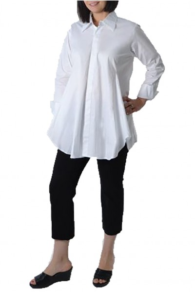 Planet - Women's Smok Shirt - White