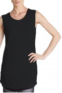 Planet - Women's Matte Jersey Rouched Tank - Black