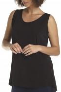 Planet - Women's Shirttail Tank - Black