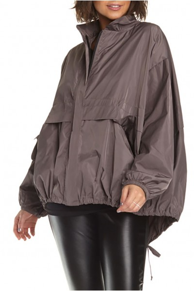 Planet - Women's Nylon Chic Bomber Jacket - Mink