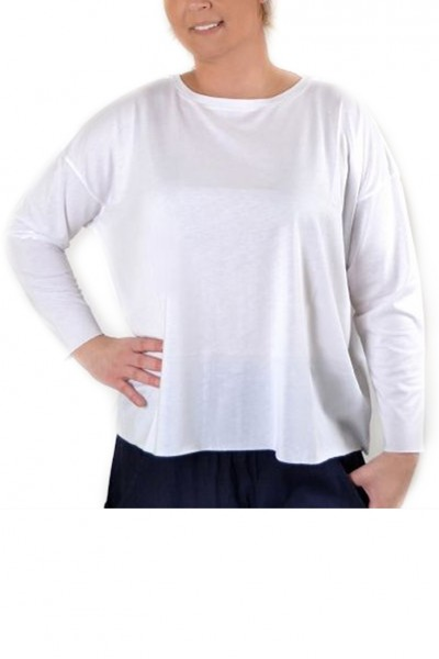 Planet - Women's Boxy Tee - White