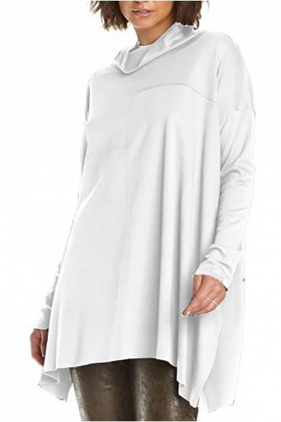 Planet - Women's Seamed Cowl Tee - White