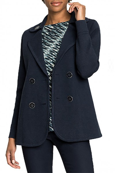 Nic+Zoe - Women's Polished Peacoat Jacket - Dark Indigo