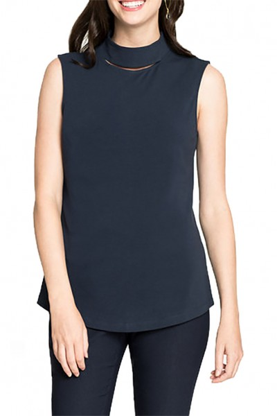 Nic+Zoe - Women's Perfect Peek Tank - Dark Indigo
