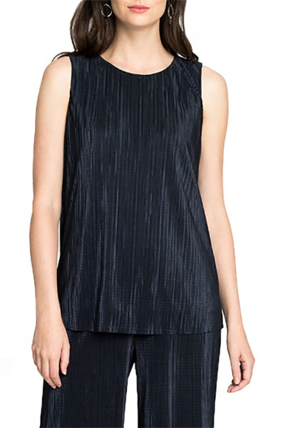 Nic+Zoe - Women's Revamp Pleated Tank - Dark Indigo