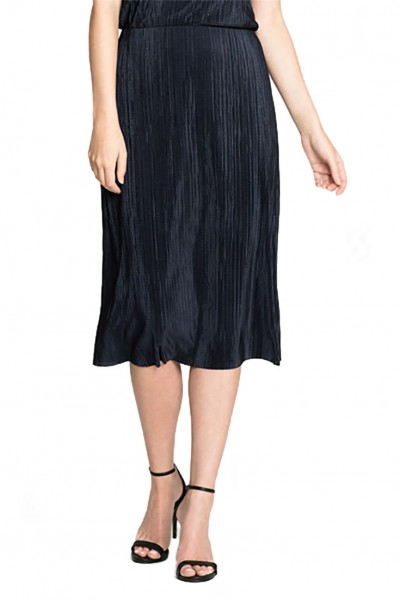Nic+Zoe - Women's Revamp Pleated Skirt - Dark Indigo