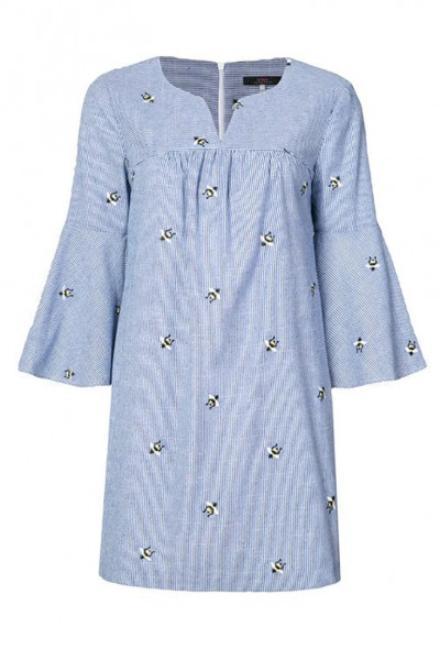 Trina Turk - Women's Bee Embroidered Chambray Dress - Chambray