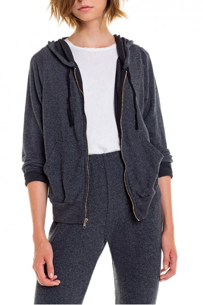 Wildfox  - Women's Carta Zip Hoodie - Black