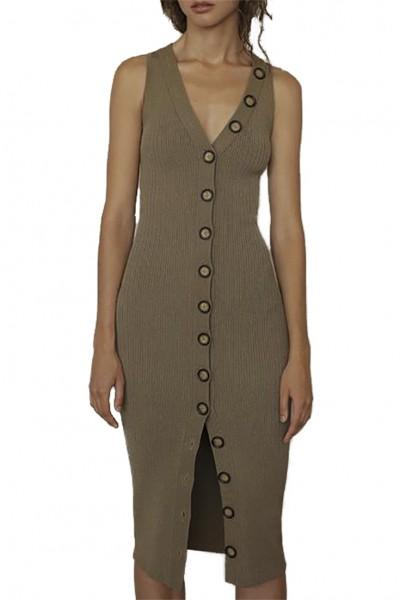 Ronny Kobo - Women's Elanna Dress - Olive