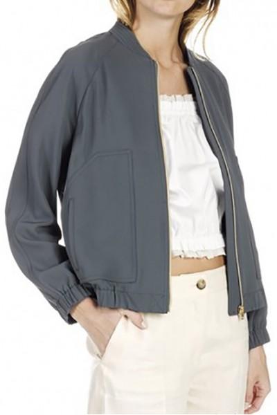 Tara Jarmon - Women's Zipped Gabardine Jacket - Lichen