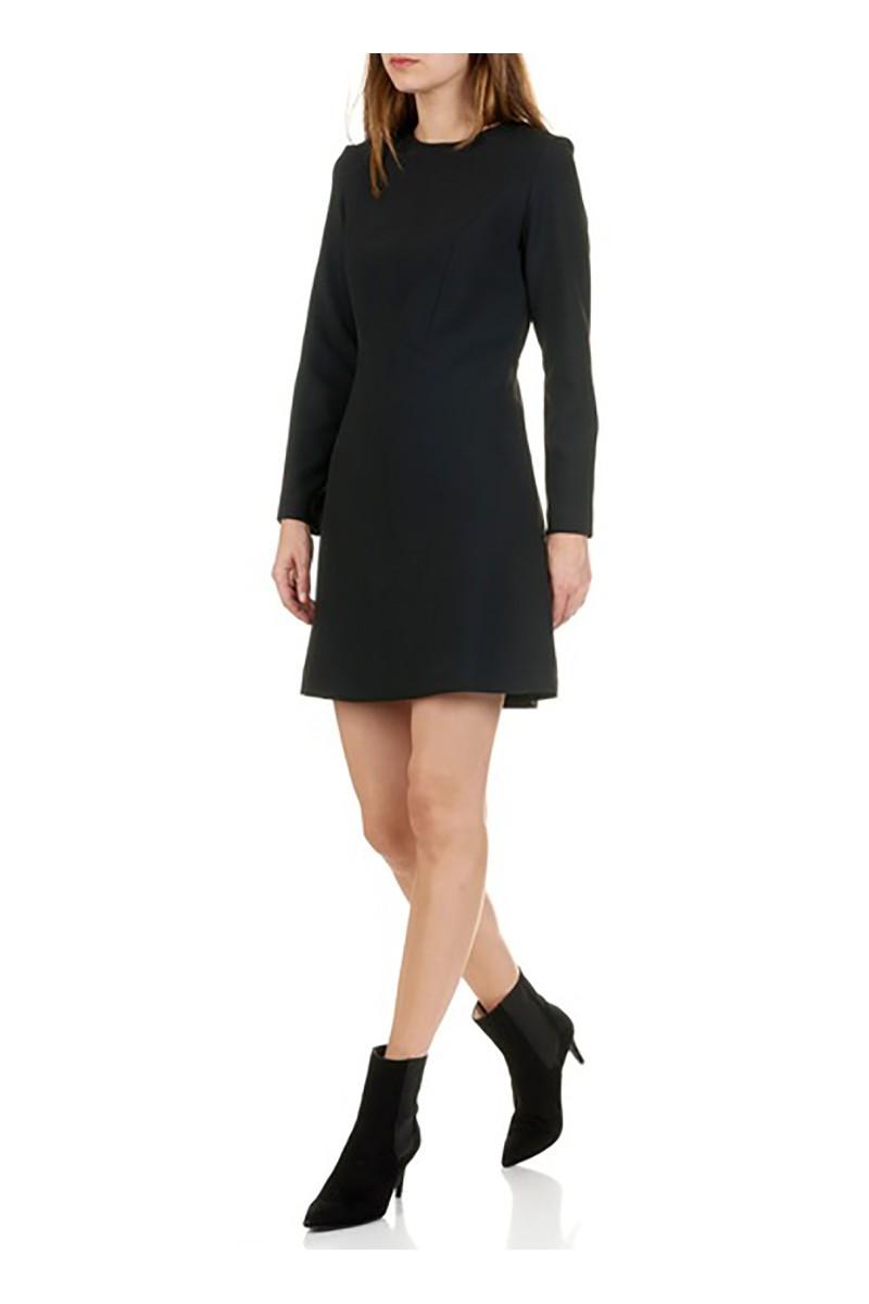 Tara Jarmon - Women's Short Double Canvas Skater Dress - Noir Black
