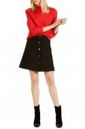 Tara Jarmon - Women's High-Waisted Short Skirt - Noir Black