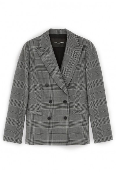 Tara Jarmon - Women's Light Heather Grey Blazer - Gris Chine Clair