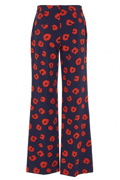 Tara Jarmon - Women's Animal Print Pants - Bleu Nuit