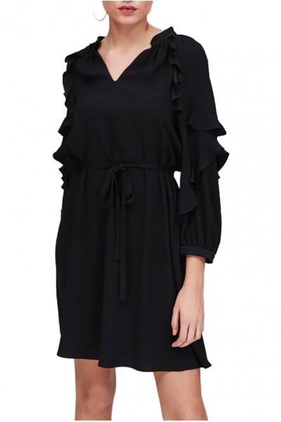 Tara Jarmon - Women's Crepe Dress With Light Backing - Noir Black