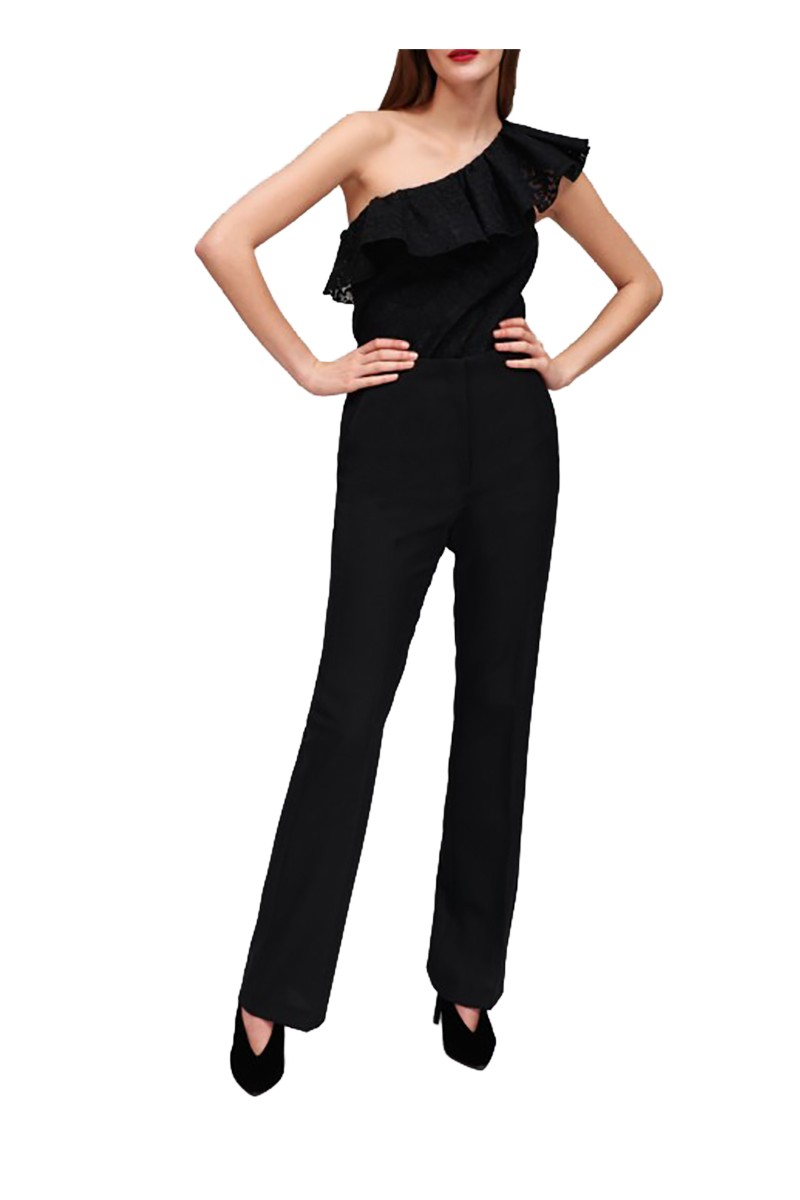 Tara Jarmon - Women's Tailored Pants In Wool Gabardine - Noir Black