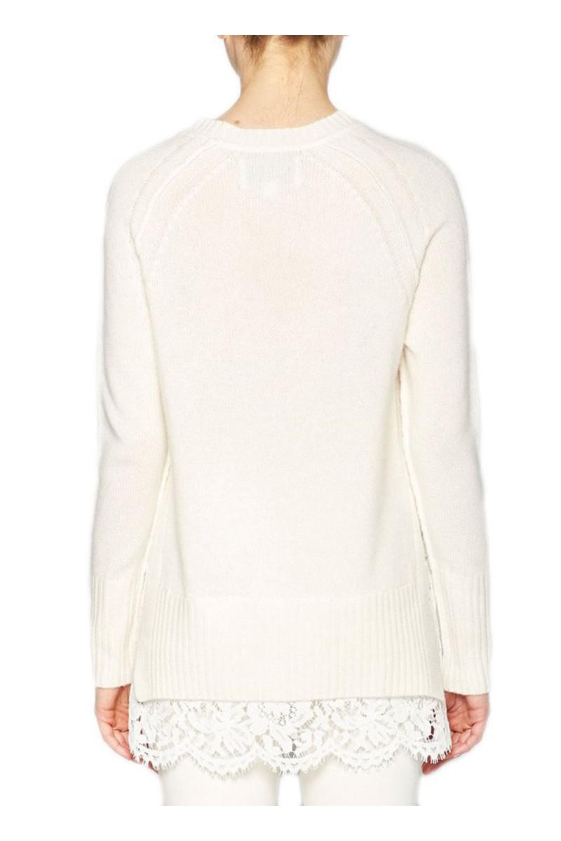 d25edd95a34 Brochu Walker - Women s Crew Neck Lace Looker Sweater - Ivory