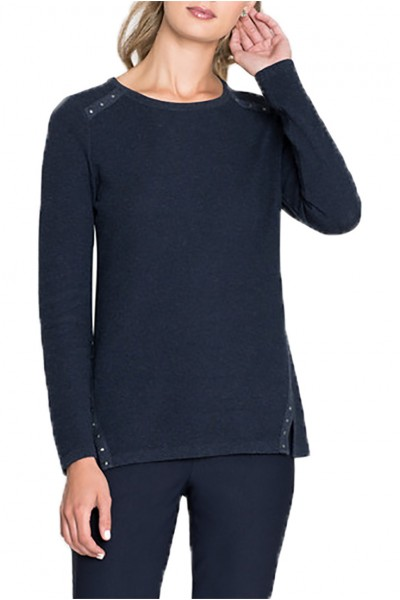Nic+Zoe - Women's Studding Along Top - Dark Indigo