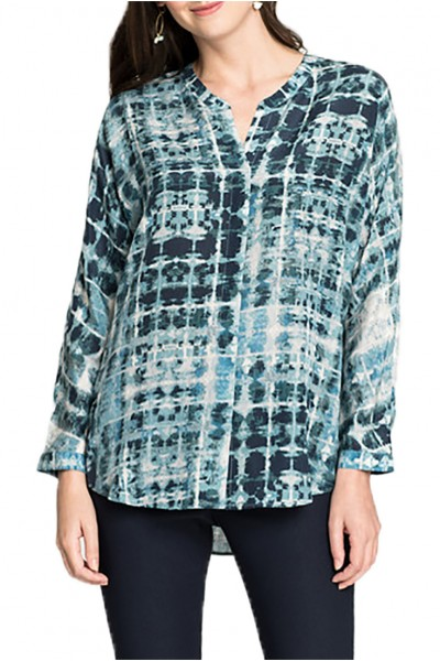 Nic+Zoe - Women's Looking Glass Long Sleeve Top - Multi