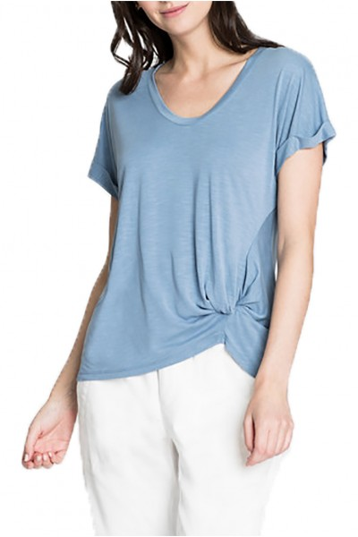 Nic+Zoe - Women's Boardwalk Tee - Washed Blue Haze