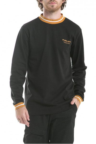 Publish - Men's Rowland Long sleeves Knits Shirt - Black