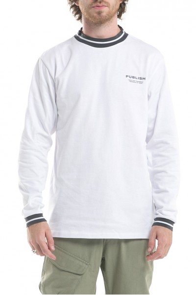 Publish - Men's Rowland Long sleeves Knits Shirt - White