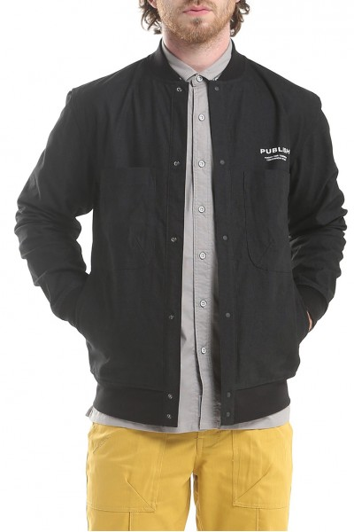 Publish - Men's Rolf Long Sleeve Jacket - Black