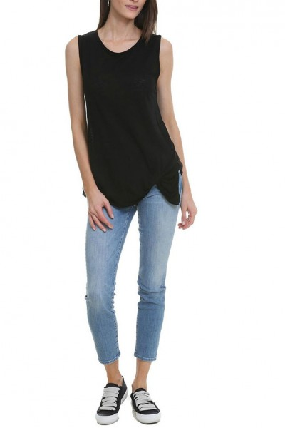 LNA - Women's Pintucked Tank - Black