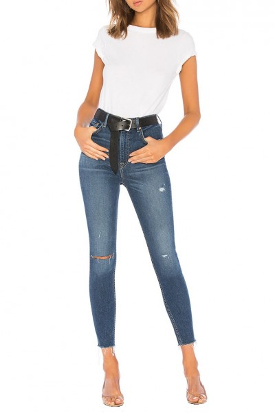 Grlfrnd - Women's Kendall Supper Stretch High Rise Skinny Jean - Foxfire