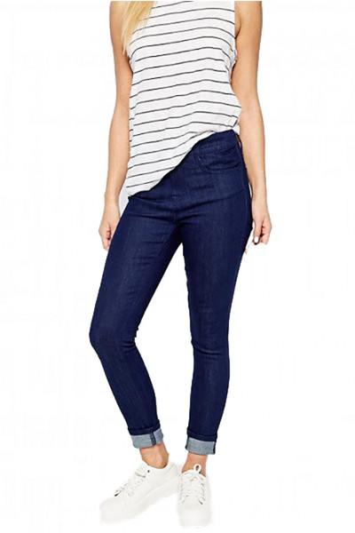 Waven - Women's Freya Classic Skinny Ankle Grazer Jean - True Blue