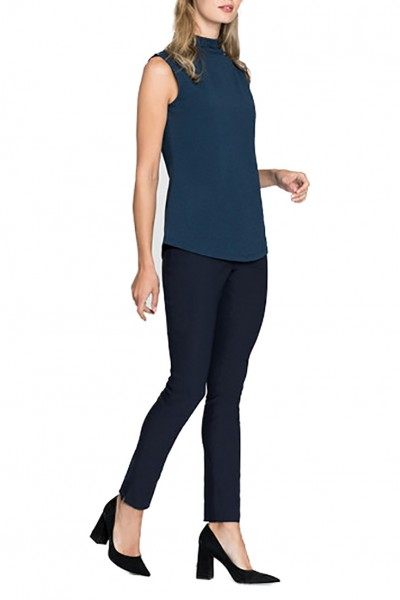 Nic+Zoe - Women's Perfect Mock Neck Tank - Indigo Mix