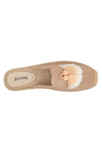 Soludos - Women's Tassel Mule Slipper - Cream