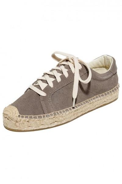 Soludos - Women's Platform Tennis Sneaker - Dove Grey