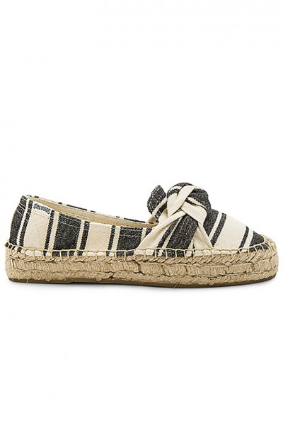 Soludos - Women's Knotted Plattform Slipper - Black Natural
