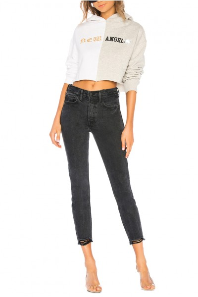 Grlfrnd - Women's Karolina High Rise Chewed Hem Jean - Excuse My French