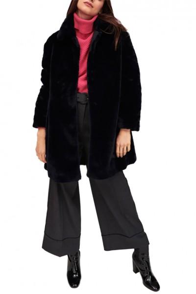 Tara Jarmon - Women's Faux Fur Coat - Bleu Nuit