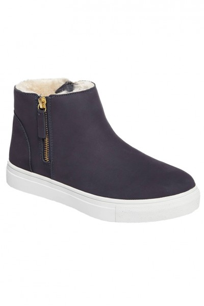 Jslides - Women's Poppy Waterproof Bootie - Navy Nubuck