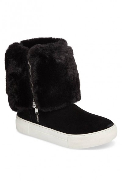Jslides - Women's Apple Bootie - Black Suede