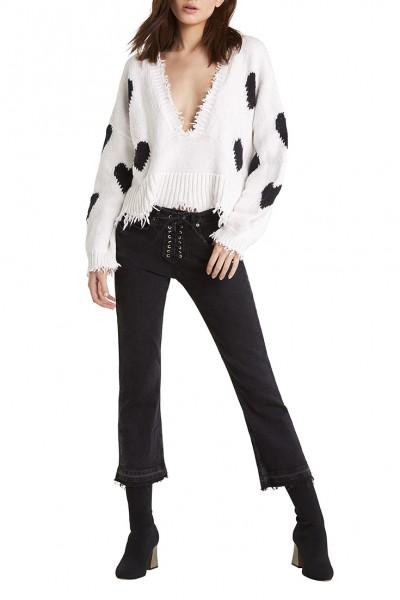 Wildfox - Women's Hearts Palmetto Sweater - Clean White
