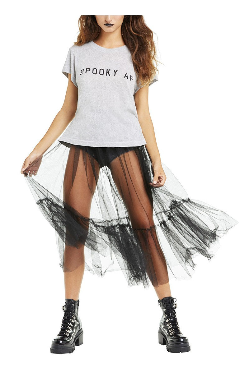 Wildfox - Women's Spooky AF No9 Tee - Heather